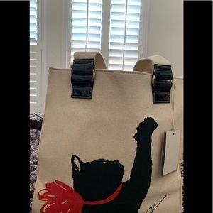 Milu Black Cat Tote Handbag Jason Wu Target 20th